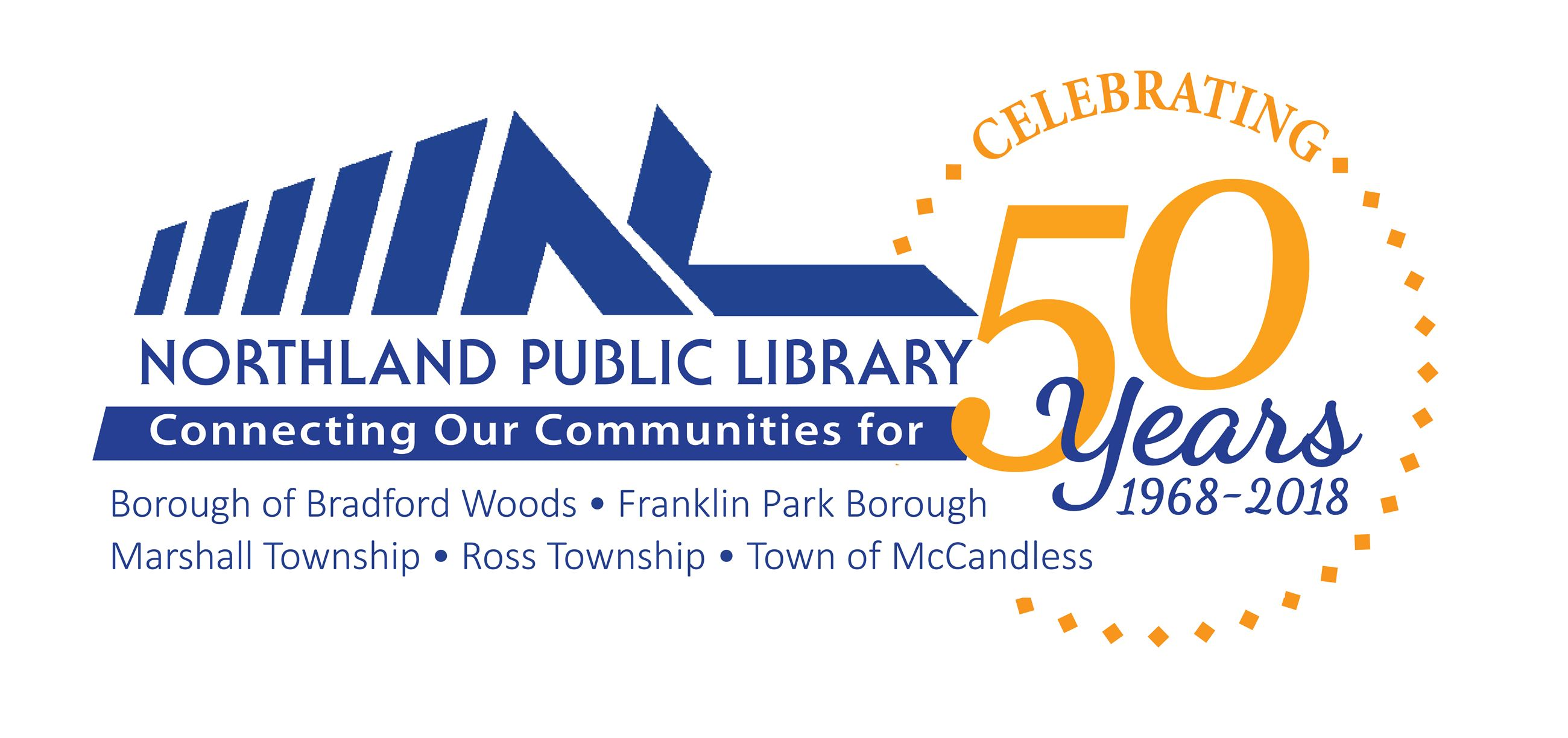 Library 50th Logo