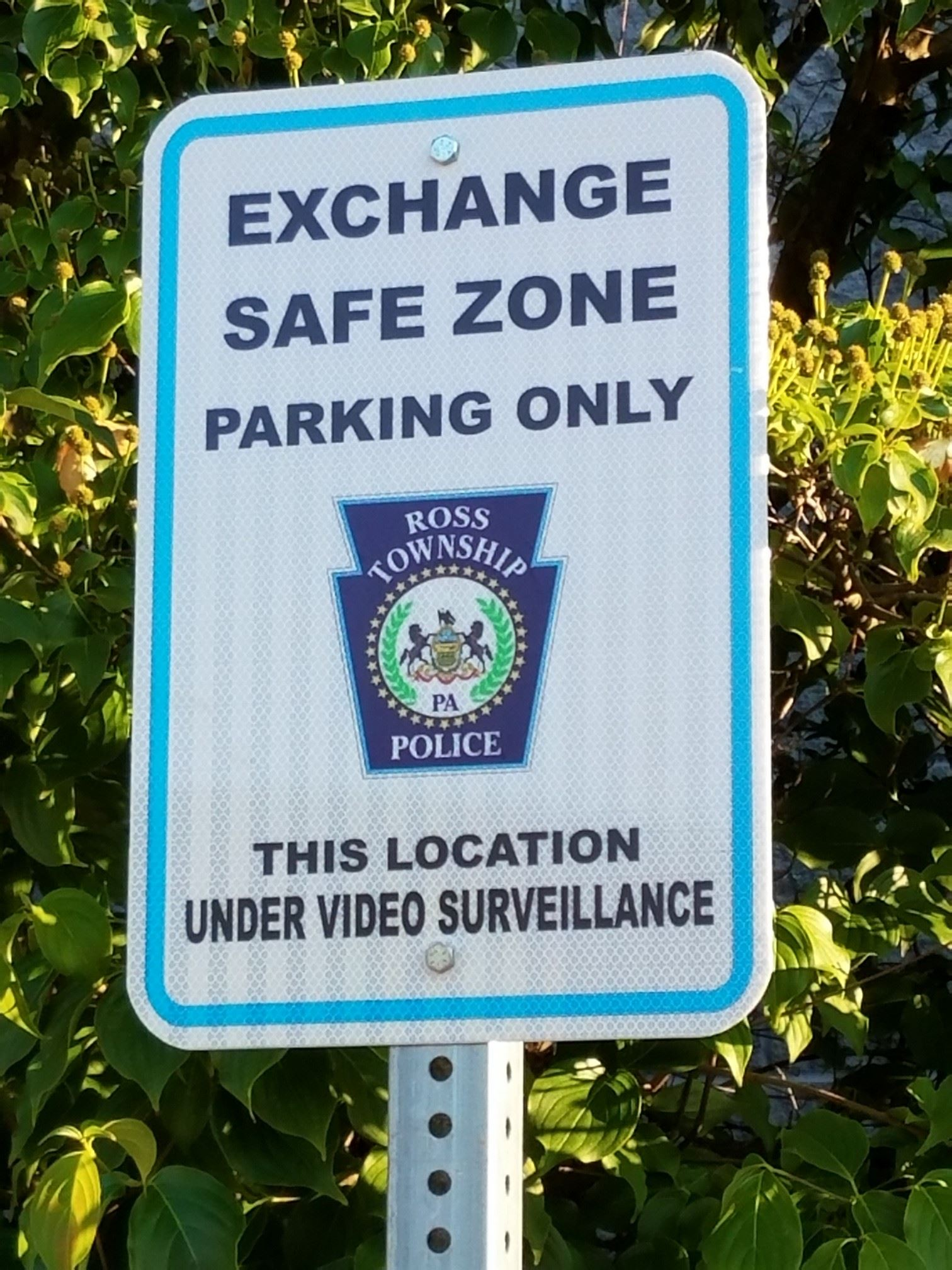 RossPD Safe Exchange sign